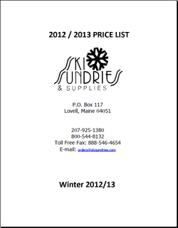 Ski Sundries 2012 / 2013 Price List