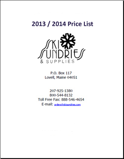 Ski Sundries 2013 / 2014 Price List